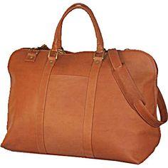 David King Leather Luggage Duffle w/Large Opening - $120