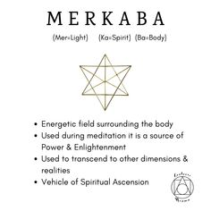 Merkaba This sacred symbol is incredibly powerful and wonderful to use during meditation Spiritual Symbols, Sacred Symbols, Spiritual Wisdom, Spiritual Awakening, Yoga Symbols, Spiritual Images, Spiritual Words, Sacred Geometry Meanings, Sacred Geometry Art