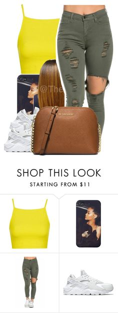 """""""7/14/16"""" by lookatimani ❤ liked on Polyvore featuring Topshop, NIKE and MICHAEL Michael Kors"""