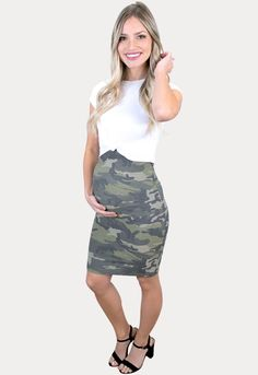 Over the Belly Camo Pregnancy Skirt - Sexy Mama Maternity Maternity Skirt, Maternity Outfits, Sexy Skirt, Best Mom, Daily Wear, Camo, Pregnancy, Female, Stylish