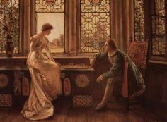 MUSCHAMP Francis Sydney (1851 – 1929) A game of chess. 1889