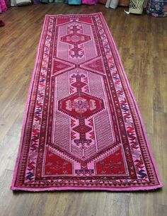Overdyed vintage northwest Persian runner. One of a kind - 11ft long.