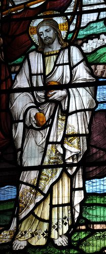 Winchcombe Stained Glass Jesus -87