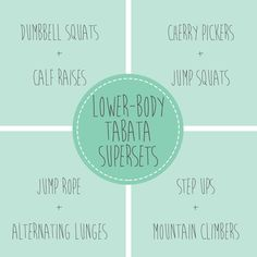 Lower Body Tabata Supersets - Fit Foodie Finds