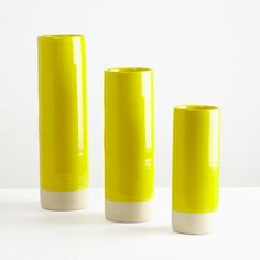 LES GUIMARDS CYLINDER VASE, YELLOW