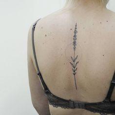 Lavander tattoo by Irene Bogachuk #IB_TATTOOING #tattoo #ink #inked #inkspiration #girlytattoo #lavender #lavendertattoo #the_tattooed_ukraine #tattoolookbook #blackworkerssubmission #blckink