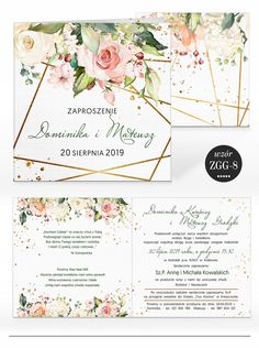 Zaproszenia ślubne RUSTYKALNE KWIATY + KOPERTA 7584587654 - Allegro.pl Handmade Invitations, Fun Wedding Invitations, Invites, Let's Get Married, Wedding Inspiration, Wedding Ideas, Art Projects, Marriage, Photoshop