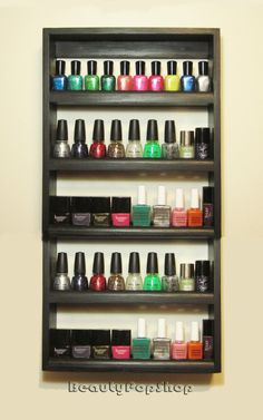 Large Nice Rack Nail Polish Rack in Black or by BeautyPopShop, $40.00