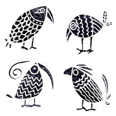 HAND CARVED BIRD STAMPS - PAJAROS, birds | Stamps | Pinterest | Birds, Print Patterns and ...
