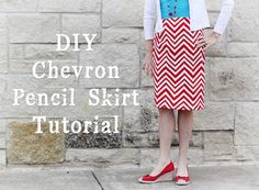 Chevron Pencil Skirt Tutorial from Sugar Bee Crafts