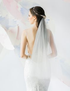 Romantic floating circle veil with delicate halo headpiece and sexy couture wedding gown by Galia Lahav // 7th Heaven: Bridal Veil Trends and Inspiration for 2016 - 2017
