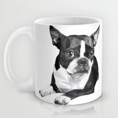 New to RandomOasis on Etsy: Mug - Personalized Boston Terrier Coffee Cup (30.00 USD)