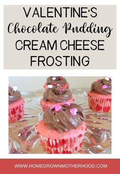 Need a quick and easy chocolate frosting recipe to do with the kids on Valentine's Day? Look no more! #chocolatepuddingfrosting #creamcheesefrosting #easyfrosting Vanilla Whipped Cream, Whipped Cream Cheese, Chocolate Cream Cheese, Chocolate Pudding, Cream Cheese Frosting, Pudding Frosting, Chocolate Frosting Recipes, Instant Pudding Mix, Valentine Chocolate