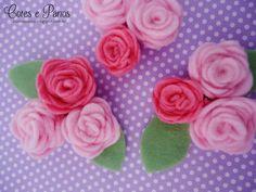 https://flic.kr/p/sbBAZC | Flores de feltro <3 | Oi gente!! :D  Tem post novo no blog com 5 passo a passo de flores de feltro.   coresepanos.blogspot.com.br/2015/04/ideias-que-inspiram-5...