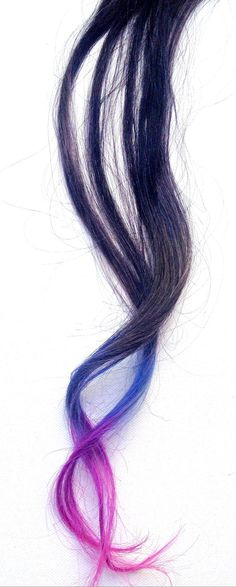 More dip dyed awesomeness! hair extensions on my etsy shop https://www.etsy.com/listing/100334894/blue-purple-and-pink-ombre-dip-dyed