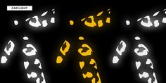 Reflective Leopard Print Stickers Night