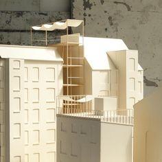 Infill Project, Copenhagen, Dk  #architecturemodel #lenschowpihlmann