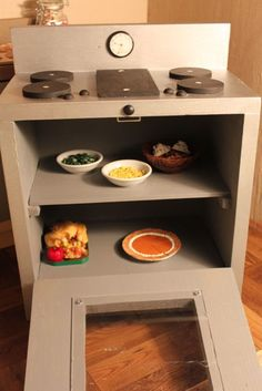 18 inch doll kitchens | MADE: Pieces For Reese: 18 inch Doll: Kitchen Part 3: Stove
