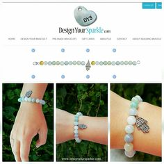 From design to finish. Design what your heart desires with our fun, easy to use bracelet builder at www.designyoursparkle.com   We paired a sterling silver diamond pave hamsa charm with 8mm round Aquamarine beads.   #diamonds #diamondpave #champagnediamonds # bracelet #handmade #handmadejewelry #madetoorder #hamsa #protection #silver #aquamarine #beads #beadsbracelet #bohochic #charm #charmbracelet #sparkle #design #designyourown #diy #starttofinish #happyfriday #longweekend