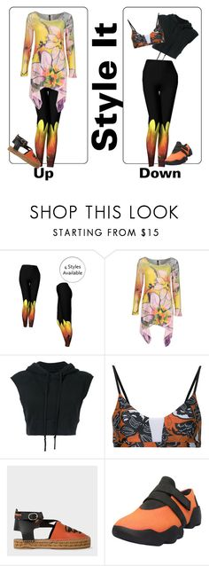 """Orange and Yellow Leggings"" by whimzingers ❤ liked on Polyvore featuring Casa Lee, Greg Lauren, The Upside and Camper"