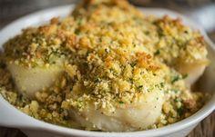 Bacalhau com broa de milho