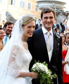 Prince Amedeo, Archduke of Austria-Este and Elisabetta Rosboch von Wolkenstein, July 5, 2014 in Valentino | Royal Hats