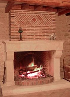 L'atelier de la pierre - artisan tailleur de pierre - nos cheminées en pierre Rustic Fireplaces, Stove, Hearth, House, Home Decor, Stove Fireplace, Fireplace, Deco