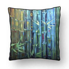 Procurando almofadas com a fase Árvore? Que tal com estampas de bambu? Feng Shui, Throw Pillows, Artwork, Shades, Block Prints, Cushions, Work Of Art, Auguste Rodin Artwork, Decorative Pillows