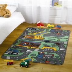 Kiddy 10 City Map Multi Rug Childrens Rugs, Young Boys, Girls Bedroom, Kids Playing, Little Girls, Kids Room, Felt Boards, Room Decor, Map