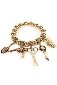 Cosmetology charm bracelet