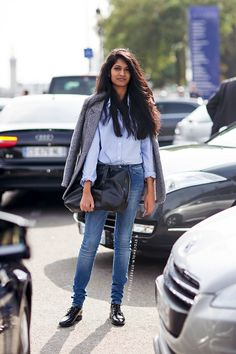 Photos via: Stockholm Streetstyle Im all about this preppy chic street style look from Paris....