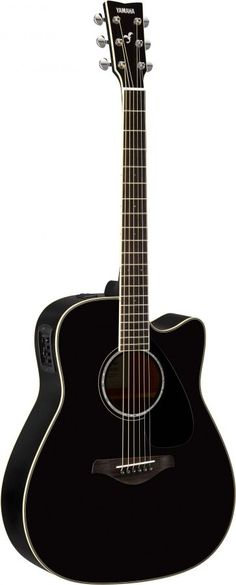 Yamaha FGX830CBL Electro-acoustic guitar Black finish Launched at NAMM 2016