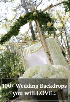 Want How to build your own Backdrop Instructions and Inspirations? Download the only DIY Wedding Planning app for DIY brides! Watch video tutorials on how to make your own wedding arches, paper backdrops, Chuppahs, Photo booths and more! Everything you need to plan your weddingis in this app. Create Seating charts, checklists, rsvp software and thousands of inspiration photos, recipes, music playlists and more. #backdrop