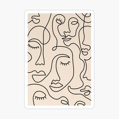 Face Line Drawing, Single Line Drawing, Minimal Art, Art Minimaliste, Art Visage, Abstract Face Art, Kunst Poster, Shape Posters, Line Artwork