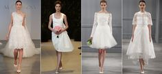 Wedding Gown Trends for 2014: Short Skirts