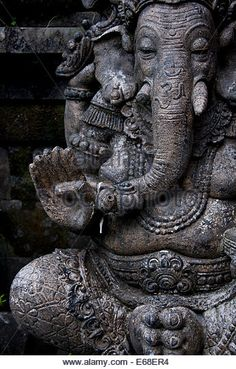 Art Discover Elephant Stone Statues Stock Photos & Elephant Stone Statues Stock Images A statue of Ganesha the elephant God in a temple in Ubud Indonesia. Ganesha Drawing, Lord Ganesha Paintings, Ganesha Art, Ganesha Pictures, Ganesh Images, Hindu Statues, Stone Statues, Indian Paintings, Abstract Paintings