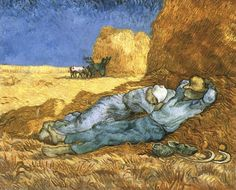 Vincent van Gogh: Noon: Rest from Work (after Millet). Oil on canvas. Saint-Remy: January, 1890. Paris: Musee d'Orsay.