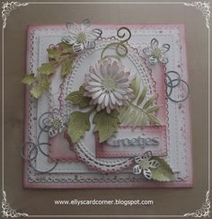 Elly´s Card- Corner Heartfelt Creations, I Card, Decorative Boxes, Crafty, Corner, Frame, Creative, Floral, How To Make