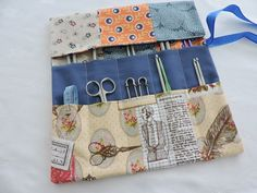 Knitting Needle Roll Holder Patchwork £10.00