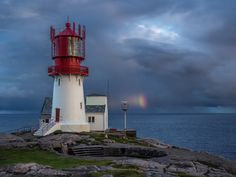 Lindesnes Fyr and a rainbow by martin.matte