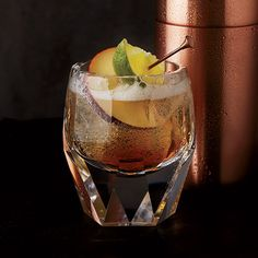 Stone Wall | This updated version of a Stone Wall mixes rum with ginger beer and apple cider for a refreshing cocktail.