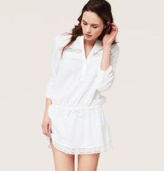 Pretty excited! I just got this cover up for our Disney Cruise 2014! I absolutely love it! LOFT Beach Lace Trim Shirtdress Swimsuit Cover Up | Loft