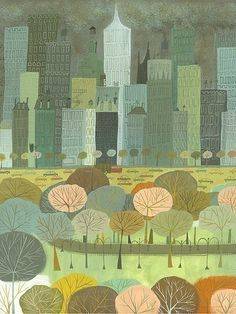reminds me of @Emily Harris for some reason# my sister has a print by this artist of Melbourne