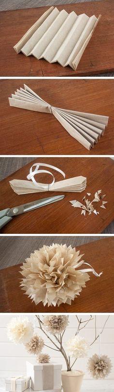 Easy DIY flower decorations