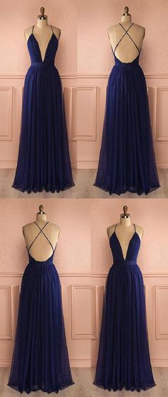 Prom Dresses Long #PromDressesLong, Dark Blue Prom Dresses #DarkBluePromDresses, Prom Dresses Simple #PromDressesSimple, Blue Prom Dresses #BluePromDresses
