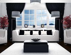 BW Living Room Design