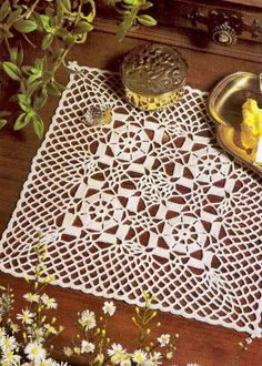 Crochet Art: Crochet Pattern Of Nice Doily To Decorate Any Wood table