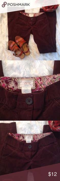 Dark Brown Cords size 0 Very stylish dark brown Cords with a Flared leg. Details on tag. Great quality Pants Boot Cut & Flare