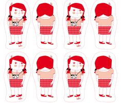Girl with camera fabric by halix on Spoonflower - custom fabric