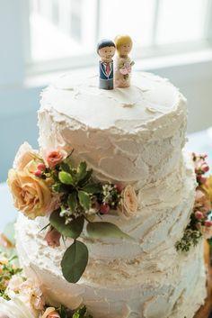 Wood wedding cake toppers